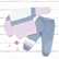 Молочный/серый/розовый